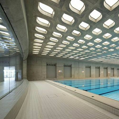 Interiér plaveckého stadionu