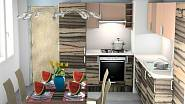Návrh kuchyně v dekoru makassar