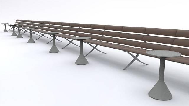 Plážová lavice Bench B