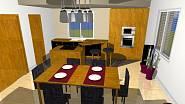 3D návrh - kuchyně 2