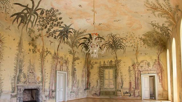 Interiér zámku Nebílovy