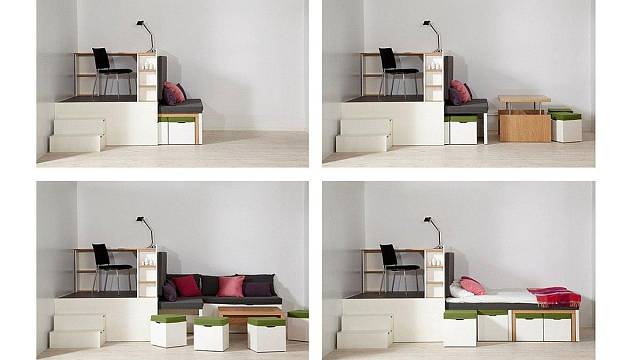Vrchol modularity - nábytek s příznačným jménem Matroshka