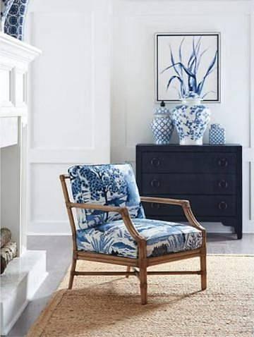 Modrá v interiéru