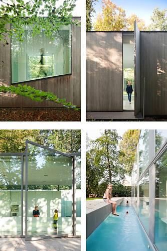 Prosklený dům v belgickém lese 12