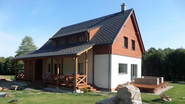 Rodinný dům Pod Ořešníkem, novostavba, dřevostavba, autor: LIDOVÉ BYDLENÍ s.r.o.