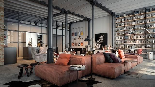 Některé apartmány jsou pojaty moderně