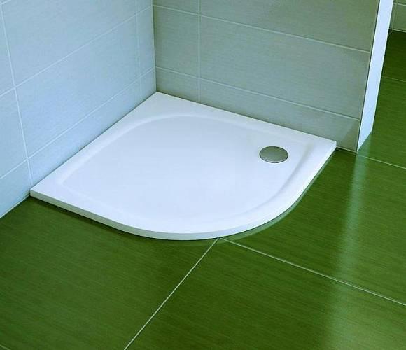 Sprchová vanička čtvrtkruhová litá ELIPSO / Foto: Ravak