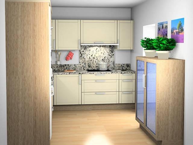 3D návrh kuchyně ve francouzském stylu 2
