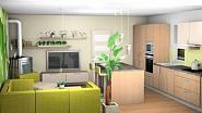 Návrh na přání: Kuchyně spojená s obývacím pokojem 2
