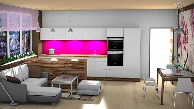 Kuchyně se přesune do obýváku, do kuchyně ložnice