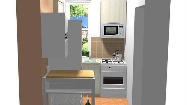 Rekonstrukce kuchyně v baťovském čtvrtdomku - varianta A