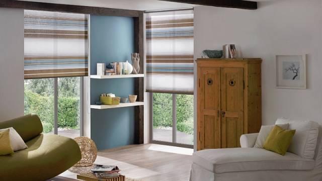 Dekor rolety může přispět k optickému zvětšení interiéru