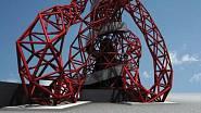 Na strukturu věže bylo použito přibližně 1400 tun oceli.