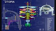 Technický nákres projektu Utopia