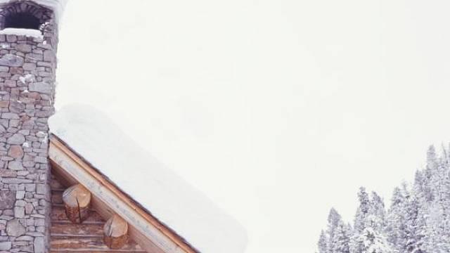 Střechy v zimě