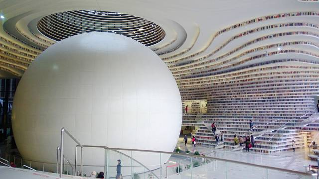 Knihovna Binhai v Tianjinu