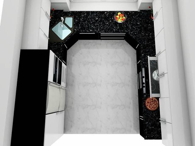černobílá kuchyně 4