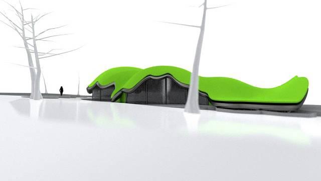 Projekt domu s krajinou na střeše od designového studia Nolimat