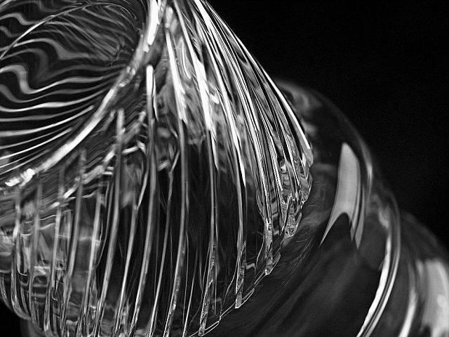 Detail broušení skla podle návrhu Thomase Jenkinse