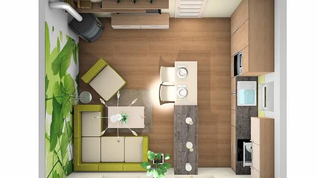 Návrh na přání: Kuchyně spojená s obývacím pokojem 4