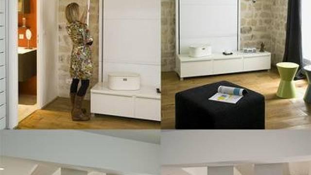 V ložnici zabírá nejvíce prostoru postel. Proč ji tedy neuklidit někam, kde nebude nijak překážet, a přitom zůstane stále dobře přístupná? Asi tak uvažovala francouzská společnost, která navrhla tuto postel. Tu lze na noc jednoduše spustit ze stropu a ...