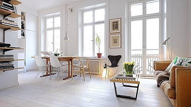 Když budete zařizovat - zkuste se poohlédnout po nábytku méně robustním. Nebude působit tak těžce, i když funkci bude plnit stejnou.