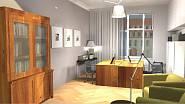 3d návrh - Domácí pracovna