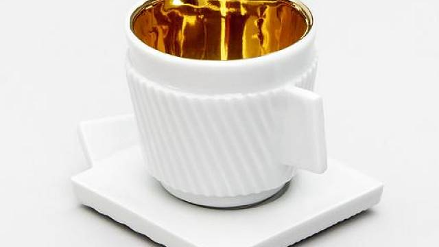 Just Espresso se zlacením
