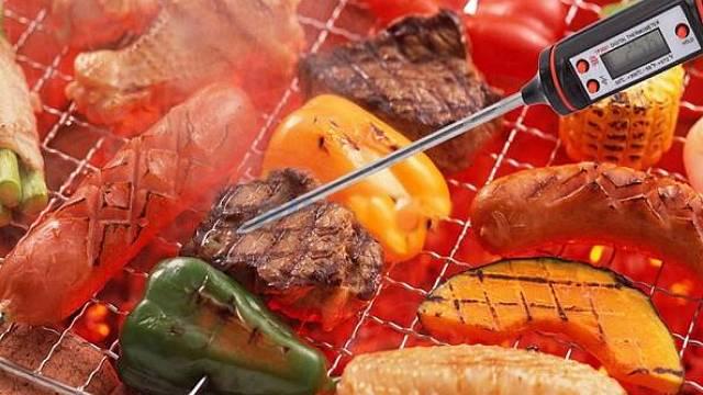 Digitální teploměr vpichovací na pečení masa do 300 °C, 188,00 Kč, www.ipal.cz