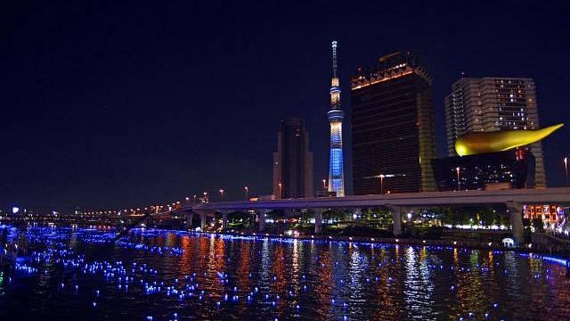 Nejvyšší televizní věž na světě Tokyo Skytree v Tokiu
