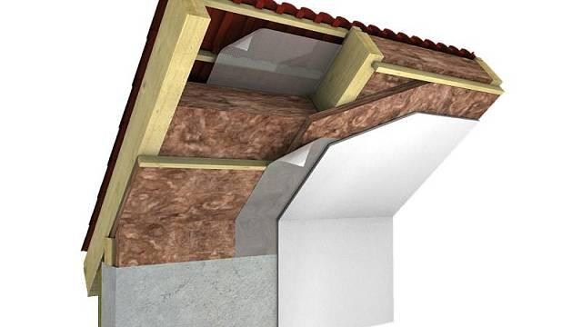 Skladba zateplení šikmé střechy