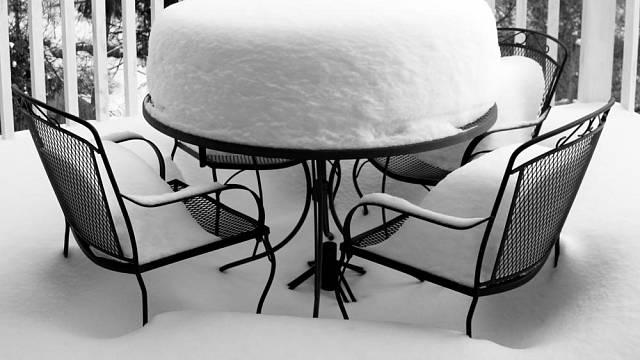 Zahradní nábytek před zimou