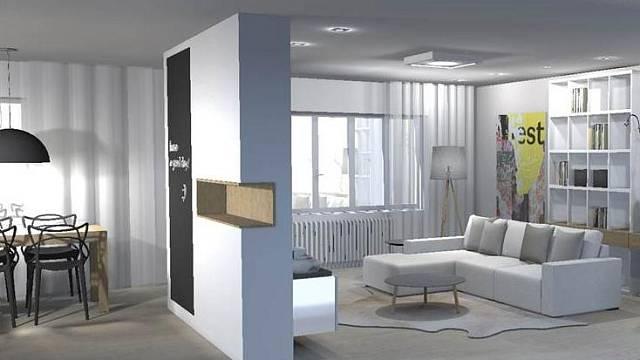 3D návrh bytu v Libni