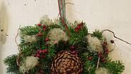 Vánoční věnce na dveře