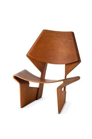 Grete Jalk - laminovaná židle