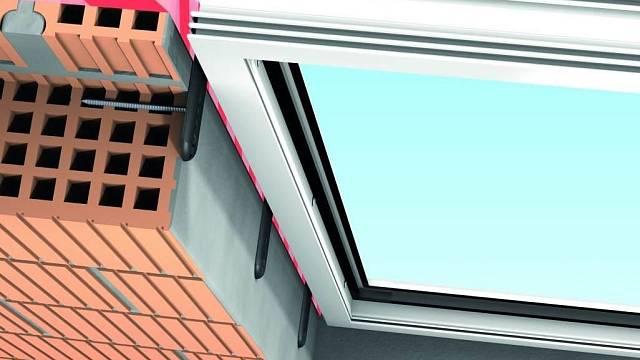 Předsazené upevnění oken