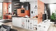 Kuchyně sestavená z modelů Kasmira a Savana značky Livanza, cena na dotaz