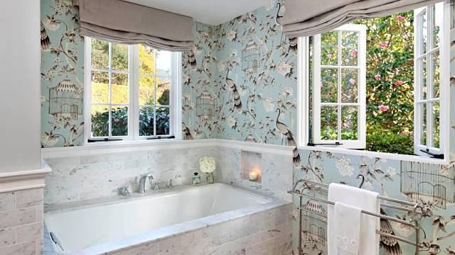 Tapety v koupelně