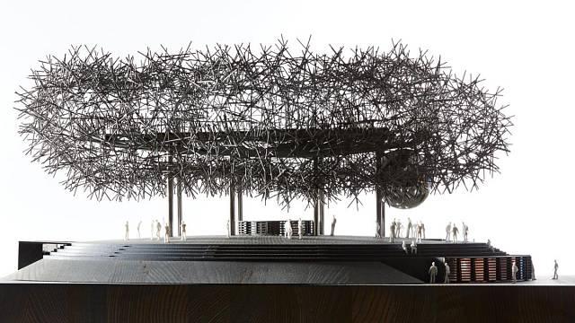 Expo Dubai, soutěžící Huť architektury Martin Rajniš / Martin Rajniš, Tomáš Kosnar, Jáchym Daniel, Mariana Hanková, David Kubík; Vítěz odborné poroty v kategorii Velké dřevěné konstrukce – návrhy