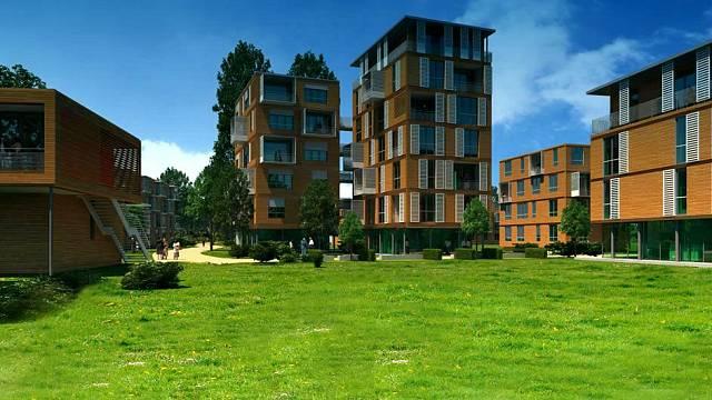 Celé nové město bude postavené z dřevostaveb