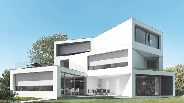 Vnější integrovaná sluneční clona Schüco AB ZDS je vysoce odolná vůči povětrnostním vlivům a větru a díky svým individuálním designovým možnostem ladí s jakýmkoli vzhledem fasády.