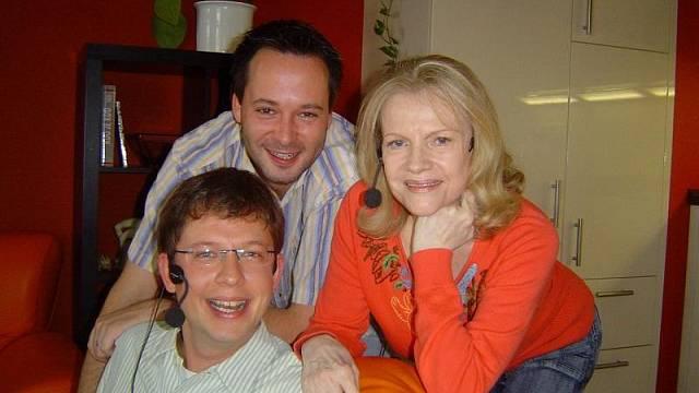 ze stejného pořadu s Michalem a s Evou Pilarovou (foto Yvona Žertová)