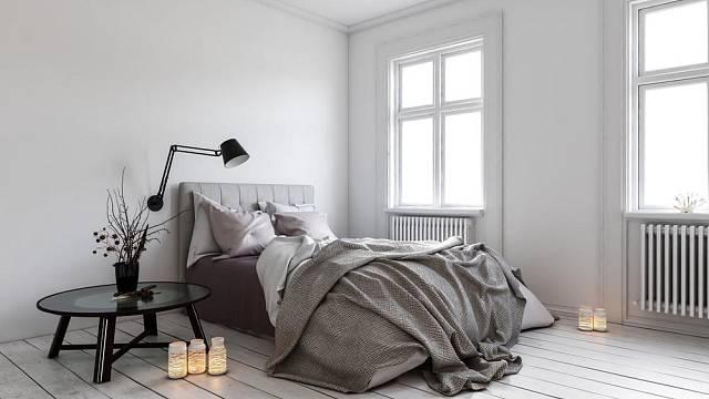 Skandinávská ložnice