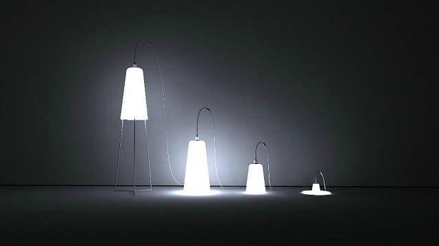 Lampy z foukaného skla Bell