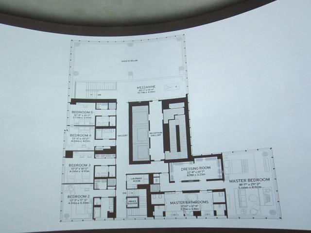 Plán nejdražšího bytu světa