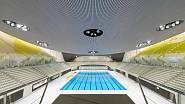 V plaveckém areálu jsou dva padesátimetrové a jeden pětadvacetimetrový bazén.