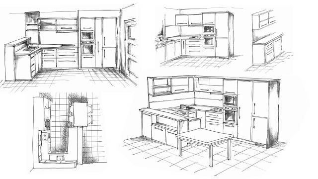 Skicář - kuchyně