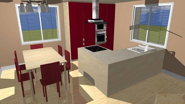 3D návrh - kuchyně