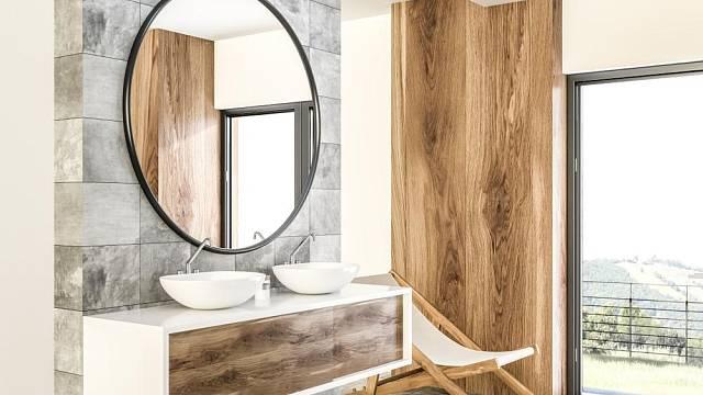 Dekor dřeva v koupelně