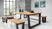 Jídelní stůl BELLINO z dubu a oceli, 17 290 Kč/ks, MebleNOVA https://www.stolkarna.cz/